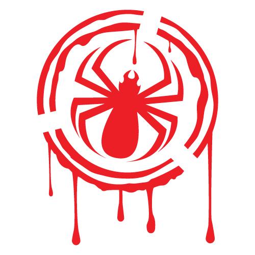 Kit 2 adesivi tuning stencil ragno spider custom decals for Stencil adesivi
